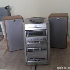 Segunda Mano: MINI CADENA RADIO Y CDS. NO FUNCIONA CASETE CON MANDO A DISTANCIA MARCA JVC. Lote 168336228