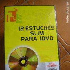 Segunda Mano: LOTE DE CAJAS DE DVDS 12 ESTUCHES CAJAS DE PLASTICO ESTANDAR NO SON CHINAS. Lote 168548424