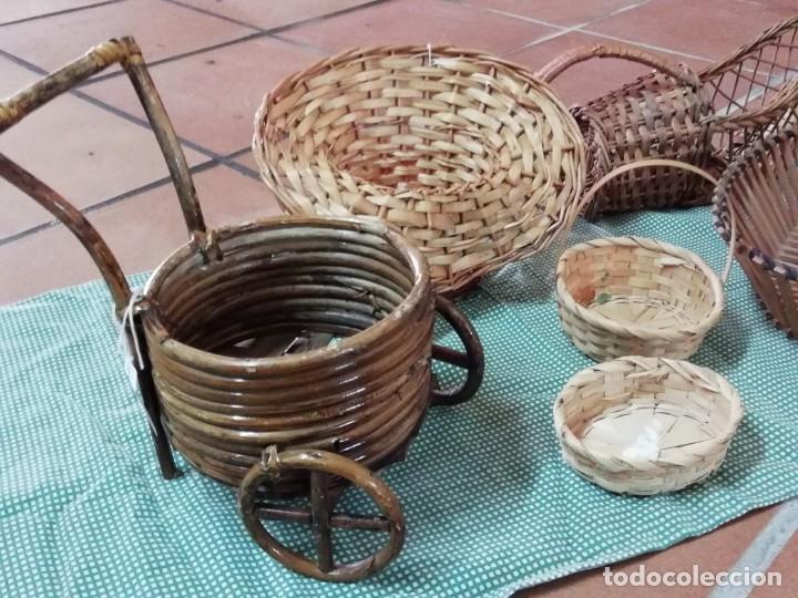 Segunda Mano: Cestos en mimbre y otros materiales naturales - Foto 2 - 168759984