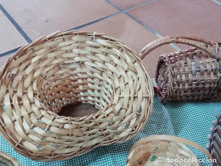 Segunda Mano: Cestos en mimbre y otros materiales naturales - Foto 8 - 168759984