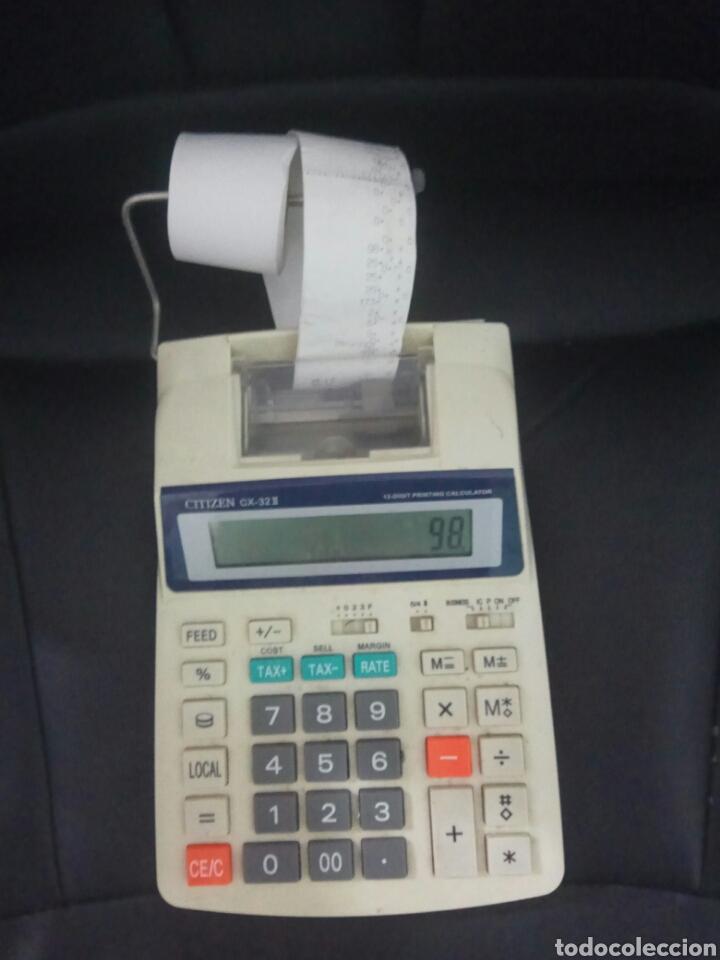 Segunda Mano: Calculadora citizen impresora pantalla papel cx-32 II 12 dígitos con tecla de impuestos - Foto 3 - 168975690