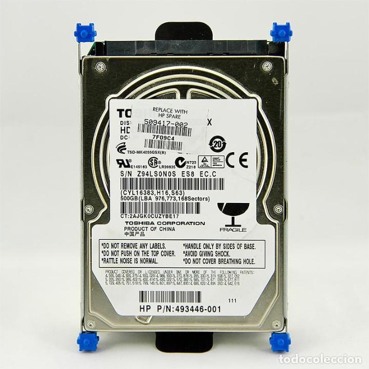 DISCO DURO HDD TOSHIBA 500GB EXTRAIDO DE UN PORTATIL HP PAVILION DV6 EN PERFECTO ESTADO (Segunda Mano - Artículos de electrónica)