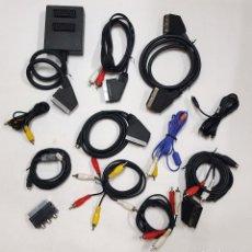 Segunda Mano: LOTE DE 12 CABLES. AUDIO-VIDEO-EUROC:RCA.... Lote 170114696