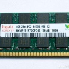 Segunda Mano: 4 GIGAS MEMORIA RAM 2RX4 PC2. Lote 171281618