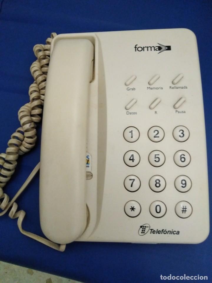 TELÉFONO MODELO FORMA DE TELEFÓNICA. BUEN ESTADO. (Segunda Mano - Artículos de electrónica)