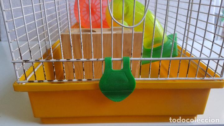Segunda Mano: Jaula de hamster con comedero, bebedero, casita, escalera, plataforma y rueda PARESE COMPLETO - Foto 6 - 171634708
