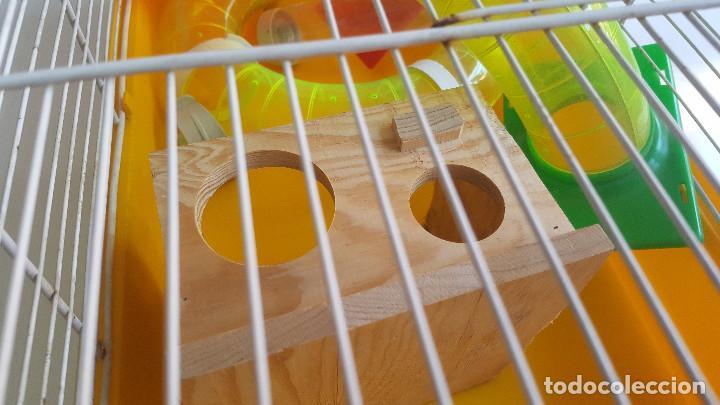 Segunda Mano: Jaula de hamster con comedero, bebedero, casita, escalera, plataforma y rueda PARESE COMPLETO - Foto 8 - 171634708