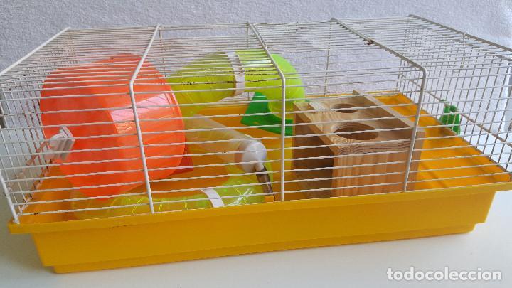 Segunda Mano: Jaula de hamster con comedero, bebedero, casita, escalera, plataforma y rueda PARESE COMPLETO - Foto 12 - 171634708