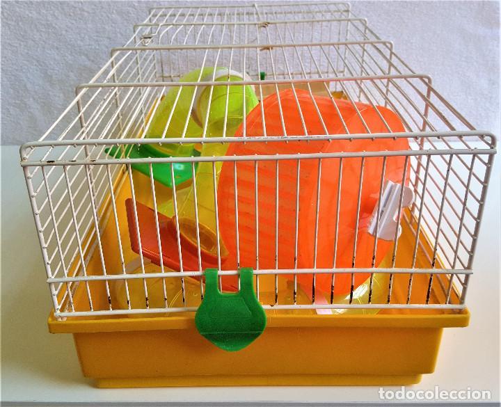 Segunda Mano: Jaula de hamster con comedero, bebedero, casita, escalera, plataforma y rueda PARESE COMPLETO - Foto 13 - 171634708