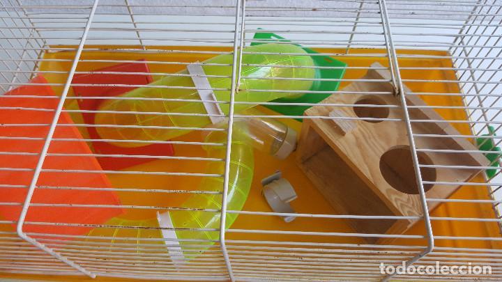 Segunda Mano: Jaula de hamster con comedero, bebedero, casita, escalera, plataforma y rueda PARESE COMPLETO - Foto 15 - 171634708