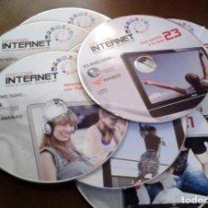 Segunda Mano: CDS CURSO INTERNET EL MUNDO TODO SOBRE INTERNET. INCOMPLETO. Lote 171890748