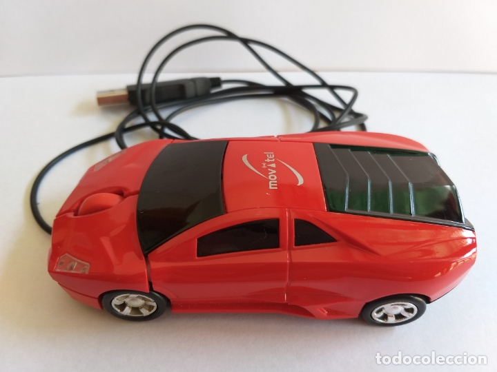 Segunda Mano: Ratón o mouse de ordenador. Forma de coche. Funciona y se ilumina los focos cuando enciende. Movatel - Foto 2 - 172156147