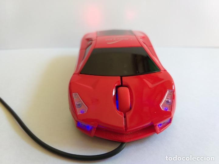 Segunda Mano: Ratón o mouse de ordenador. Forma de coche. Funciona y se ilumina los focos cuando enciende. Movatel - Foto 5 - 172156147