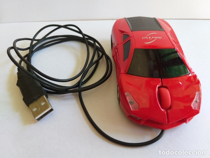 Segunda Mano: Ratón o mouse de ordenador. Forma de coche. Funciona y se ilumina los focos cuando enciende. Movatel - Foto 6 - 172156147