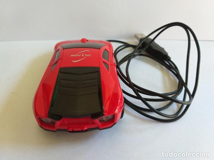 Segunda Mano: Ratón o mouse de ordenador. Forma de coche. Funciona y se ilumina los focos cuando enciende. Movatel - Foto 7 - 172156147