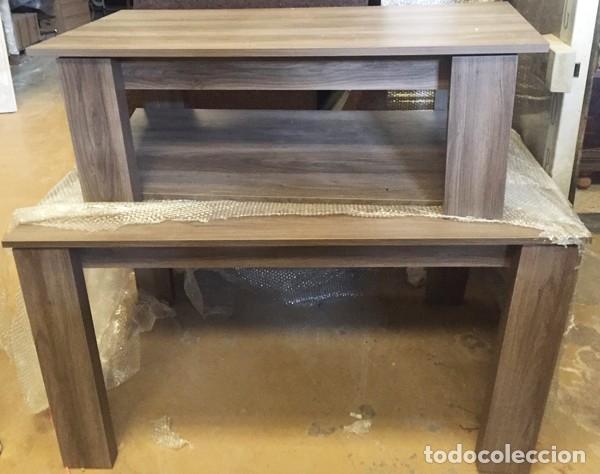 conjunto de mesa de comedor 4 sillas y mesa central.