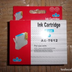 Segunda Mano: TINTA PARA IMPRESORA - INK CARTRIDGE - CYAN AZUL - AE-T612.. Lote 172612889