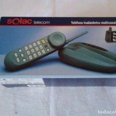 Segunda Mano: 22-TELEFONO INALAMBRICO MULTICANAL NEGRO SOLAC TELECOM. Lote 173061603