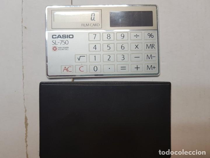 Segunda Mano: Calculadora Casio Film Card SL-750 funcionando escasa en funda original - Foto 2 - 173836972