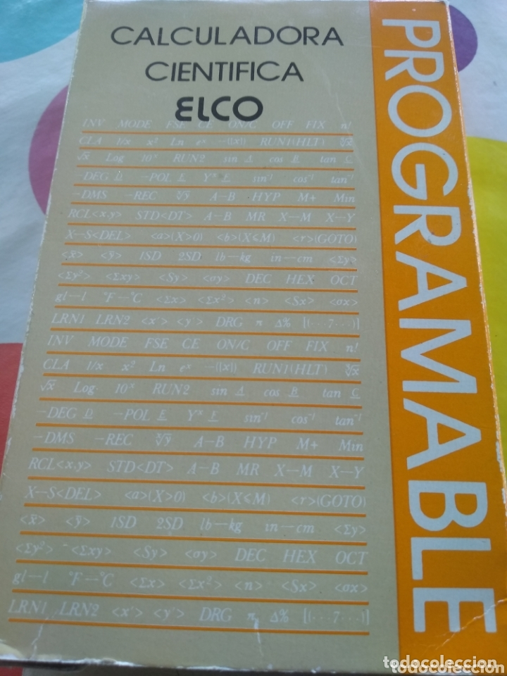 Segunda Mano: CALCULADORA CIENTIFICA PROGRAMABLE ELCO ECP-3955 - Foto 5 - 173843162