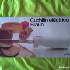 Segunda Mano: CUCHILLO ELECTRICO BRAUN NUEVO A ESTRENAR. Lote 174168189