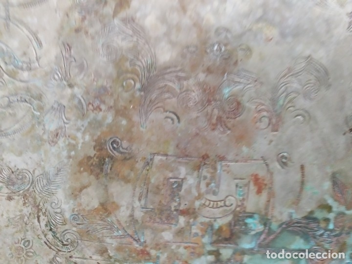 Segunda Mano: Bandeja de Origen Arabe, con grabados del año 39. - Foto 4 - 174248988