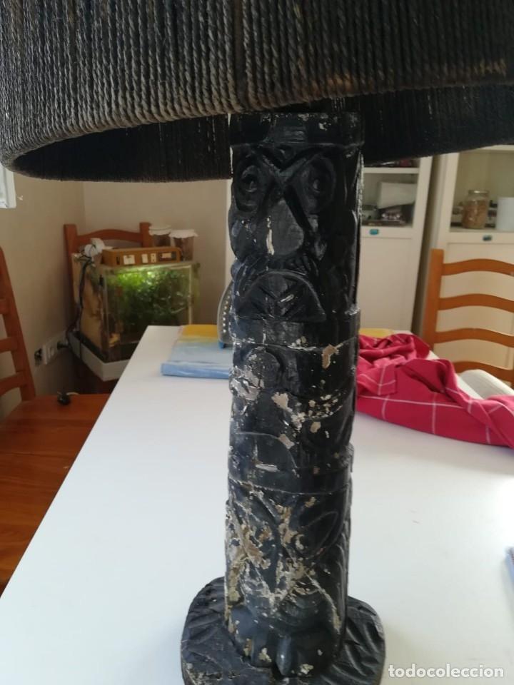 Segunda Mano: Lampara madera tallada. Para restaurar - Foto 3 - 174945445