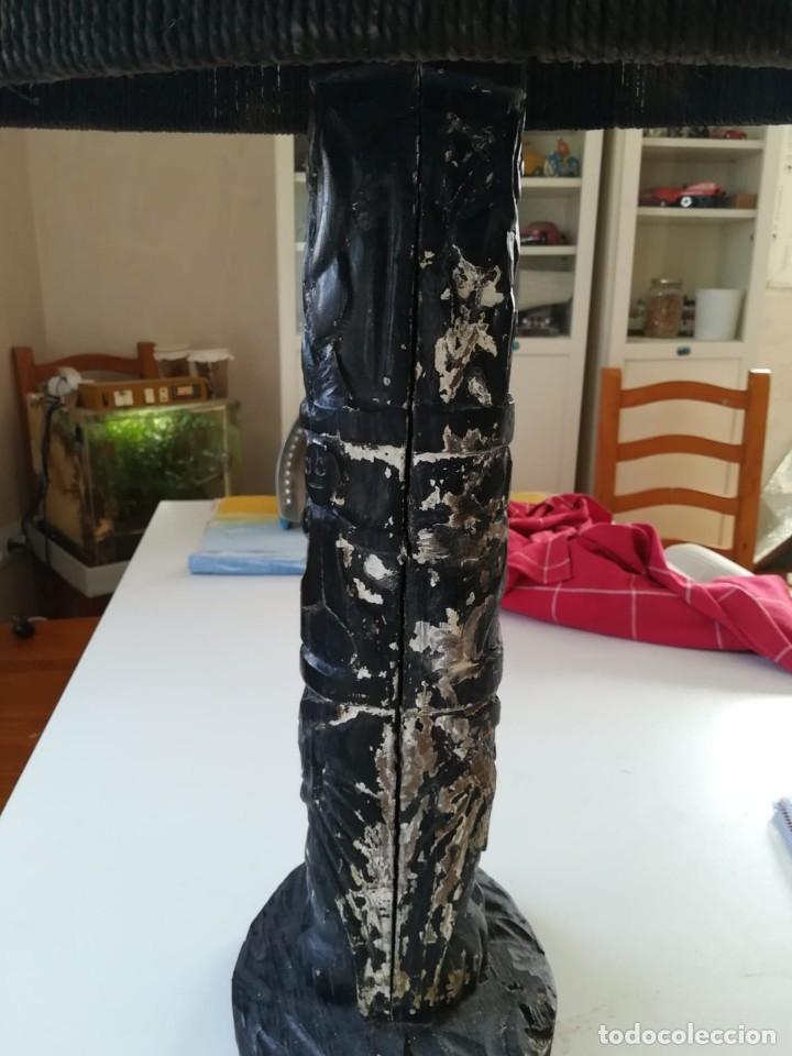 Segunda Mano: Lampara madera tallada. Para restaurar - Foto 4 - 174945445