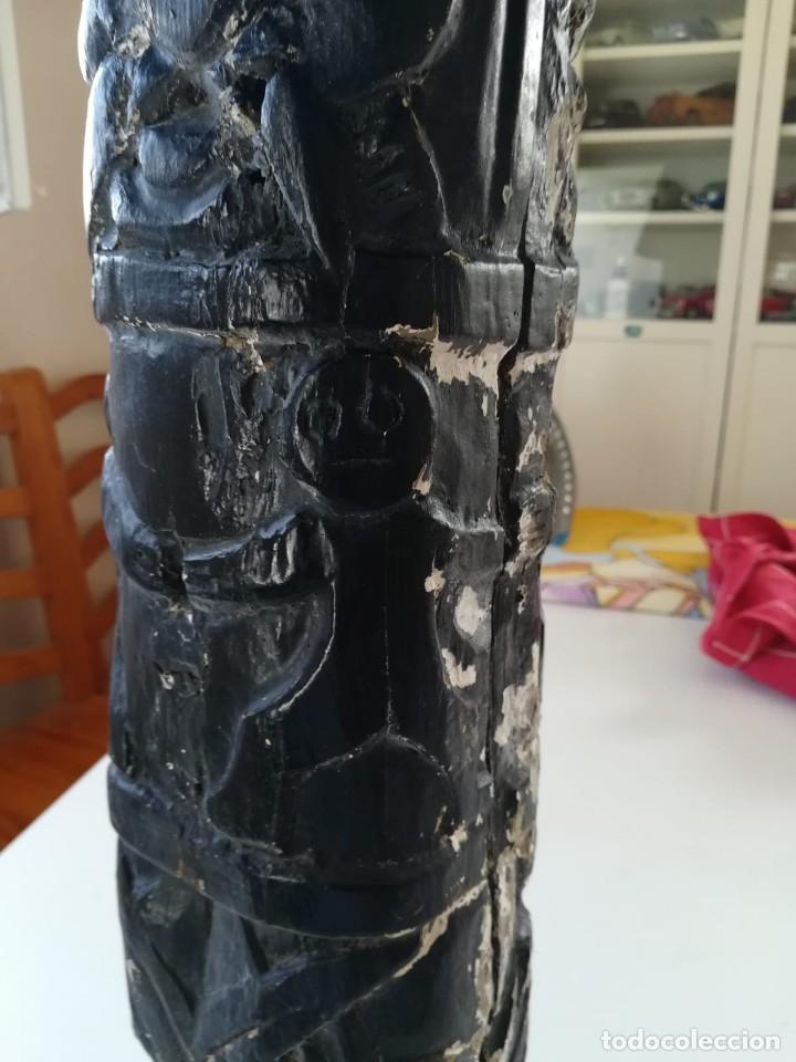 Segunda Mano: Lampara madera tallada. Para restaurar - Foto 6 - 174945445