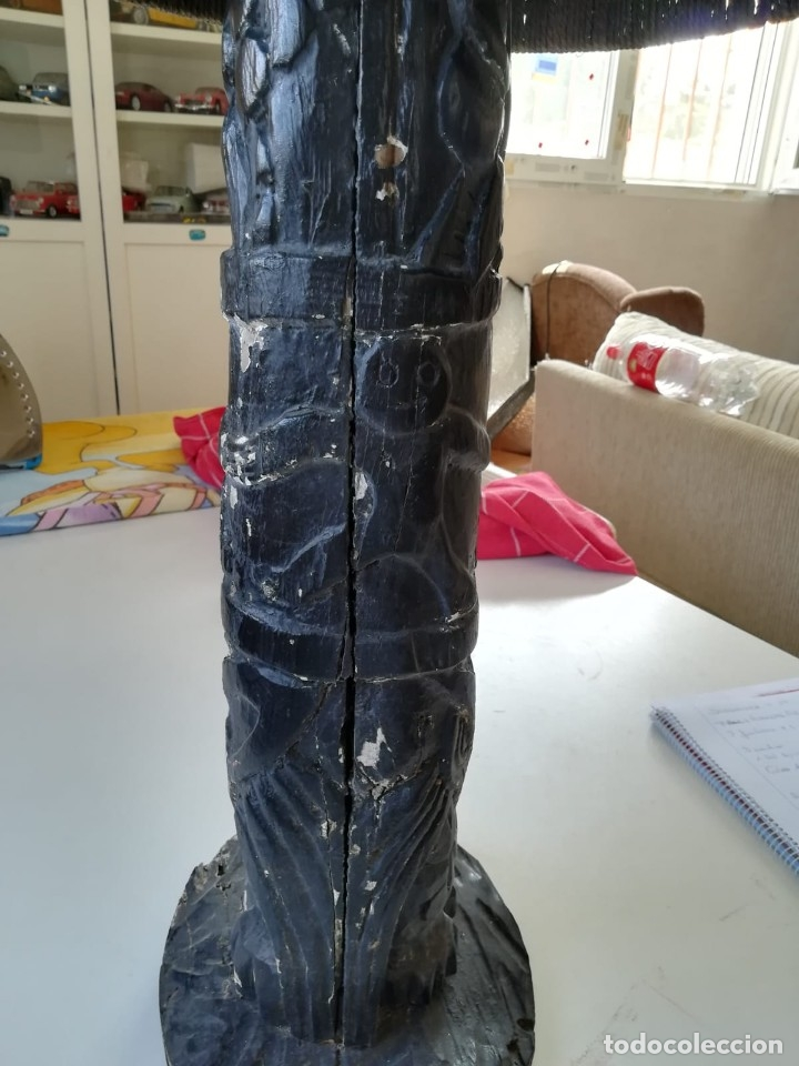 Segunda Mano: Lampara madera tallada. Para restaurar - Foto 8 - 174945445