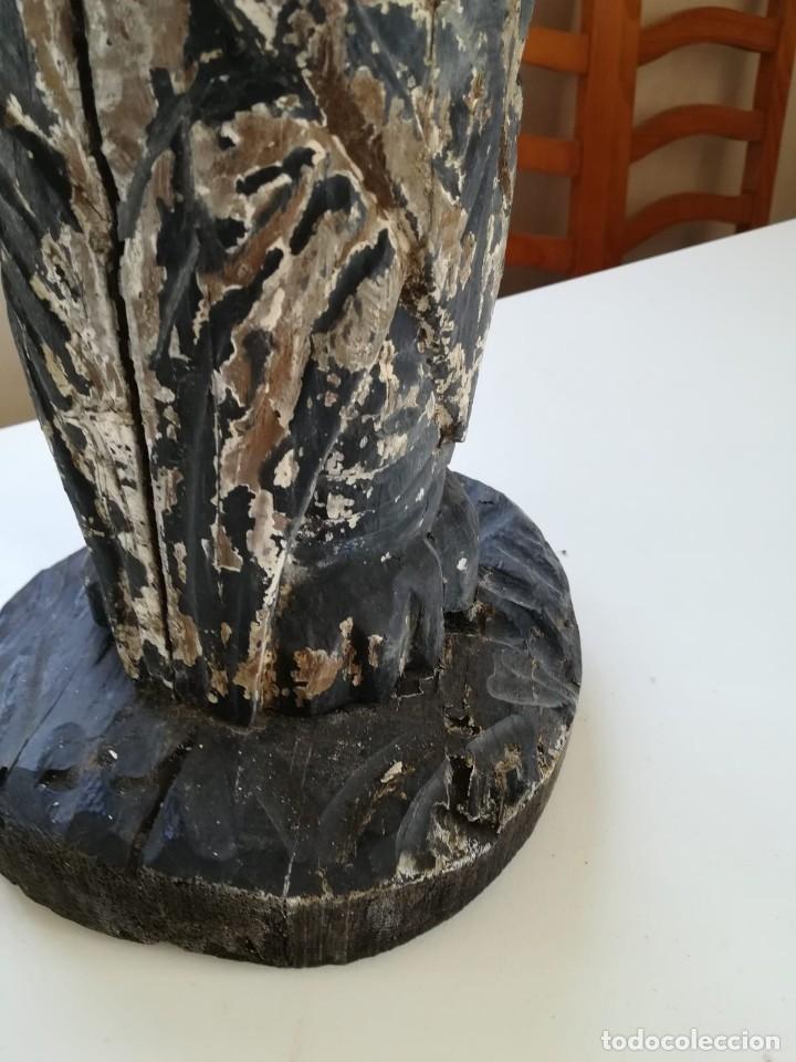 Segunda Mano: Lampara madera tallada. Para restaurar - Foto 10 - 174945445
