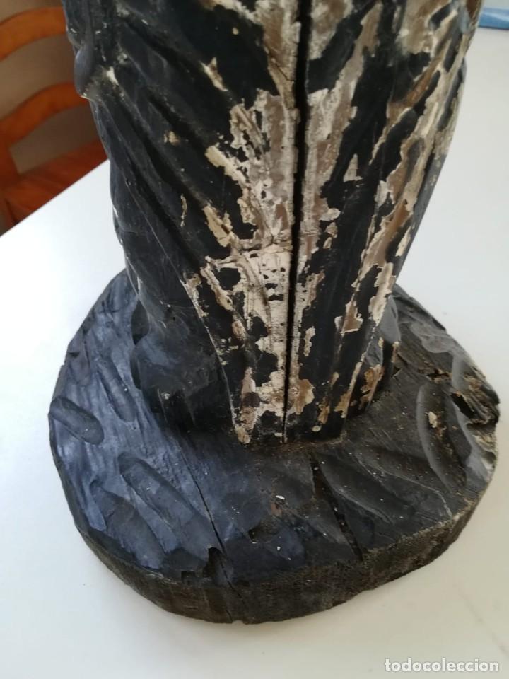 Segunda Mano: Lampara madera tallada. Para restaurar - Foto 11 - 174945445