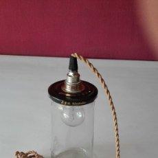 Segunda Mano: LAMPARA TARRO CRISTAL. Lote 175019673