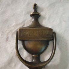 Segunda Mano: ALDABA / LLAMADOR PUERTA GRABADO. Lote 175415153