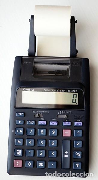 Segunda Mano: CASIO Modelo HR-100 ER y lote de 12 rollos de papel. Calculadora impresora - Foto 3 - 175594608