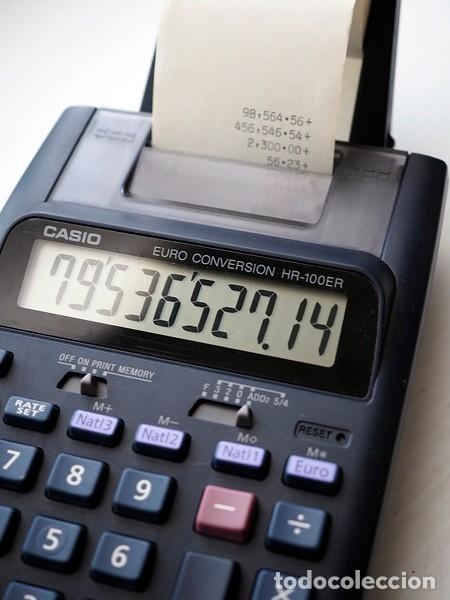 Segunda Mano: CASIO Modelo HR-100 ER y lote de 12 rollos de papel. Calculadora impresora - Foto 5 - 175594608