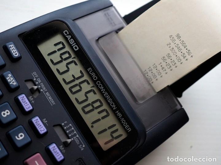 Segunda Mano: CASIO Modelo HR-100 ER y lote de 12 rollos de papel. Calculadora impresora - Foto 6 - 175594608