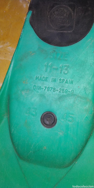 Segunda Mano: CONJUNTO DE BUCEO, 2 PARES DE GAFAS DE BUCEO Y UN PAR DE ALETAS DE LOS 90 - Foto 12 - 176034493