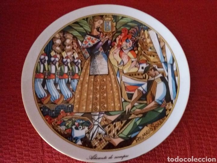 PLATO DECORADO ALICANTE DE SIEMPRE 'REMIGIO SOLER- (Segunda Mano - Hogar y decoración)