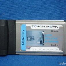 Segunda Mano: CONCEPTRONIC - TARJETA 2 PUERTOS USB 2.0 CARD FOR NOTEBOOKS. Lote 176557104