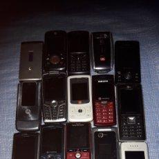 Segunda Mano: LOTE DE 17 TELÉFONOS MÓVILES ANTIGUOS Y SUS CARGADORES.. Lote 176602154