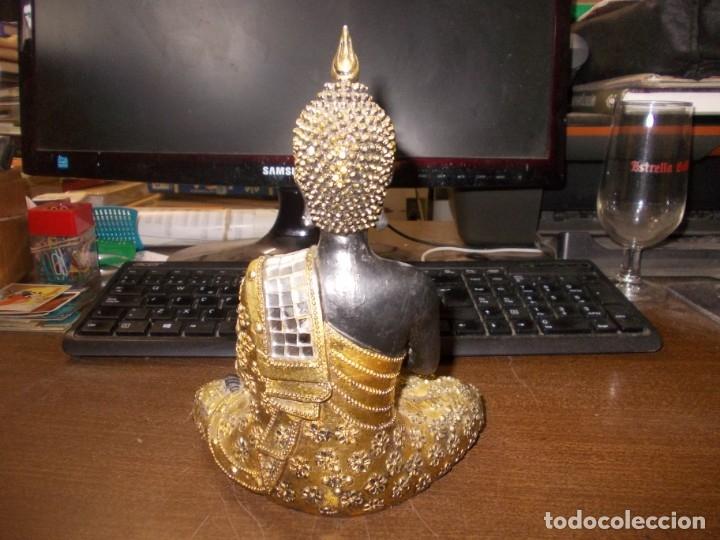 Segunda Mano: Figura tipo Buda en pasta con varios golpes y faltas, ver fotos. Mide 20 cm. alto - Foto 8 - 176723729