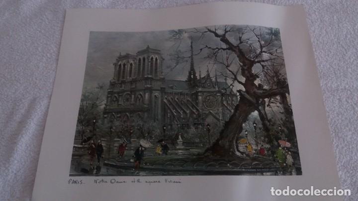 LAMINA DE PARÍS . NOTRE-DANE (Segunda Mano - Hogar y decoración)
