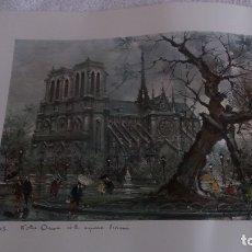 Segunda Mano: LAMINA DE PARÍS . NOTRE-DANE. Lote 177308857