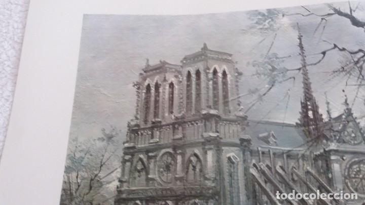 Segunda Mano: Lamina de París . Notre-Dane - Foto 5 - 177308857