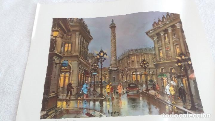 LAMINA DE PARÍS .PLAZA VENDAME (Segunda Mano - Hogar y decoración)