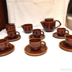 Segunda Mano: JUEGO 6 TAZAS CAFÉ EN PORCELANA COLOR MIEL. Lote 177497485