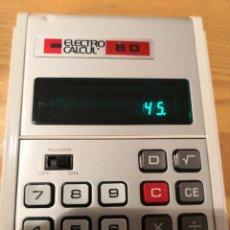 Segunda Mano: CALCULADORA ELECTRO CALCUL 80. Lote 177609789