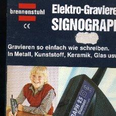 Segunda Mano: ELECTRO-GRAVIERER SIGNOGRAPH. Lote 177750137