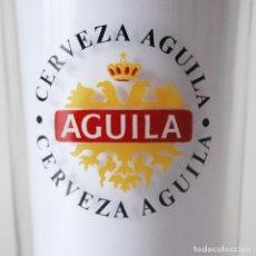 Segunda Mano: VASO ALTO CRISTAL PUBLICIDAD CERVEZA ÁGUILA. Lote 177825639